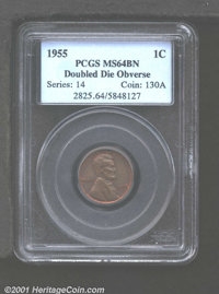 1955/55 1C Doubled Die MS64 Brown PCGS. The ever-popular 1955/55 Doubled Die is a strong performer in all grades. This i...