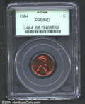 1964 1C PR68 Red PCGS. Deep sunset red patina with no visible flaws....(PCGS# 3404)