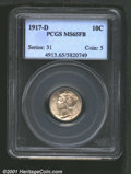 1917-D 10C MS65 Full Bands PCGS. It is curious how well-known rarities, such as the '16-D Dime, can overshadow another i...