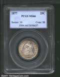 1877 25C MS66 PCGS. Sharply struck with superior luster characteristics, the surfaces are unquestionably original. The o...