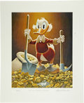 "Original Comic Art:Miscellaneous, Carl Barks - Uncle Scrooge ""Pick and Shovel Laborer"" LimitedEdition Miniature Lithograph Print #4/595 (Another Rainbow,1993)..."