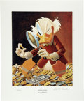 """Original Comic Art:Miscellaneous, Carl Barks - """"The Expert"""" Miniature Lithograph Limited EditionPrint #4/595 (Another Rainbow, 1997). . ... (Total: 2 Coins )"""