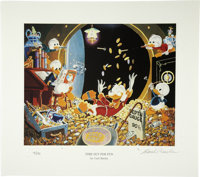 "Carl Barks - ""Time Out For Fun"" Miniature Lithograph Limited Edition Print #4/595 (Another Rainbow, 2005)"