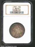 1837 50C MS65 NGC. The 1837 is one of only two issues of Christian Gobrecht's Reeded Edge, 50 CENTS Reverse Half Dollar...