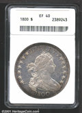 1800 $1 XF40 ANACS. Close Date. B-1, BB-181. The mostly brilliant centers are surrounded by rich russet toning around th...