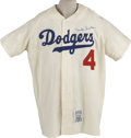 Autographs:Jerseys, Duke Snider Signed Throwback Jersey. At the heart of the New Yorkcenterfield debate was the Brooklyn Dodgers' stellar slug...