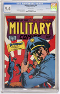 Golden Age (1938-1955):War, Military Comics #28 San Francisco pedigree (Quality, 1944) CGC NM 9.4 Off-white pages....