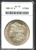 1889-CC $1 AU50 ANACS. Lightly toned with a decent amount of original luster remaining around the devices. Just one noti...