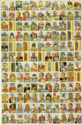 Football Collectibles:Others, 1960 Topps and Fleer Football Uncut Sheet and Strips. The 1960Topps uncut sheet, a complete set of 132 cards, measures app...
