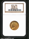 1910 $5 MS63 NGC. Tan-gold in outward color, the surfaces reveal warmer golden-rose undertones at certain angles. A shar...