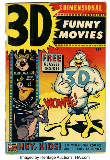 3-D Funny Movies #1 (Comic Media, 1953) Condition: VG....