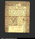 Colonial Notes:Connecticut, May 10, 1775, 40s, Connecticut, CT-182, VF. This note has split...