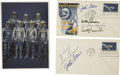 Autographs:Celebrities, Project Mercury Astronauts Signed First Day Covers. ... (Total: 3Items)