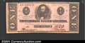 Confederate Notes:1862 Issues, 1862 $1 Clement C. Clay, T-55, CU. Scarce this nice. ...