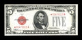 Small Size:Legal Tender Notes, Fr. 1528* $5 1928C Mule Legal Tender Note. Extremely Fine.. ...
