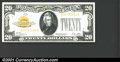 Small Size:Gold Certificates, 1928 $20 Gold Certificate, Fr-2402, VF-XF. This note has been p...