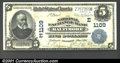 National Bank Notes:Maryland, National Exchange Bank of Baltimore, Maryland, Charter #1109. 1...