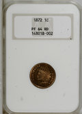 Proof Indian Cents: , 1872 1C PR64 Red NGC. NGC Census: (14/16). PCGS Population (38/19). Mintage: 950. Numismedia Wsl. Price for NGC/PCGS coin i...