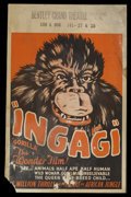 "Movie Posters:Adventure, Ingagi (Congo Pictures, 1931). Window Card (14"" X 22""). Adventure.Starring Sir Hubert Winsted,, Charles Gemora and Louis Ni..."