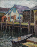 Fine Art - Painting, American:Contemporary   (1950 to present)  , ALICE BEACH WINTER (American 1877-1970). Gloucester, 1914.Oil on canvas. 19-3/4 x 15-1/2 inches (50.2 x 39.4 cm). Sign...