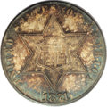 Three Cent Silver: , 1871 3CS MS67 PCGS. The tiny mintage of 3,400 business strikesfaced heavy melting in 1873, and only a fraction survive tod...