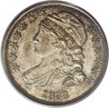 Bust Dimes: , 1833 10C MS64 PCGS. JR-9, R.2. The second S in STATES is repunchedon this available die marriage. Olive and golden-tan emb...