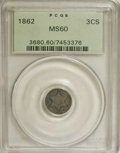 Three Cent Silver: , 1862 3CS MS60 PCGS. PCGS Population (12/832). NGC Census: (3/836).Mintage: 343,000. Numismedia Wsl. Price: $167. (#3680)...