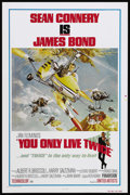"""Movie Posters:James Bond, You Only Live Twice (United Artists, R-1980). One Sheet (27"""" X41""""). James Bond Action. Starring Sean Connery, Mie Hama, Tet..."""