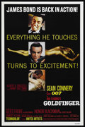 """Movie Posters:James Bond, Goldfinger (United Artists, R-1980). One Sheet (27"""" X 41""""). JamesBond Action. Starring Sean Connery, Honor Blackman, Gert F..."""