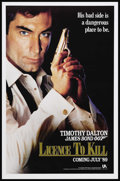 "Movie Posters:James Bond, Licence to Kill (United Artists, 1989). One Sheet (27"" X 41"")Advance. James Bond Action. Starring Timothy Dalton, Carey Low..."