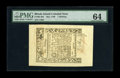 Colonial Notes:Rhode Island, Rhode Island May 1786 1s PMG Choice Uncirculated 64. A tiny tear inthe right margin, which is extremely difficult to see, h...