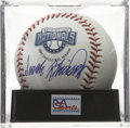 Autographs:Baseballs, Frank Robinson Single Signed Baseball, PSA Mint+ 9.5. Hall of FamerFrank Robinson has penned a stunning autograph to the OM...