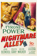 "Movie Posters:Film Noir, Nightmare Alley (20th Century Fox, 1947). One Sheet (27"" X 41"")...."