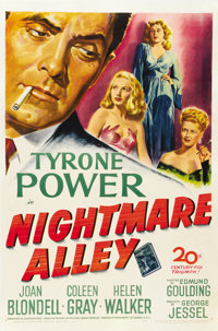 "Nightmare Alley (20th Century Fox, 1947). One Sheet (27"" X 41"")"
