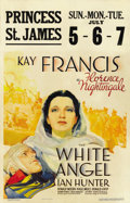 "Movie Posters:Drama, The White Angel (Warner Brothers, 1936). Window Card (14"" X22"")...."
