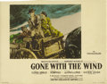 "Movie Posters:Academy Award Winner, Gone with the Wind (MGM, 1939). Color-Glos Lobby Card (11"" X 14"")...."