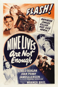 "Movie Posters:Mystery, Nine Lives are Not Enough (Warner Brothers, 1941). One Sheet (27"" X 41"")...."