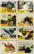 """Movie Posters:Science Fiction, Rodan! The Flying Monster (Toho/DCA, 1957). Lobby Card Set of 8(11"""" X 14"""").... (Total: 8 Items)"""