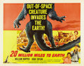 "Movie Posters:Science Fiction, 20 Million Miles to Earth (Columbia, 1957). Half Sheet (22"" X 28"")Style A...."