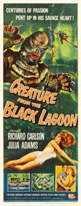 "Movie Posters:Horror, Creature From the Black Lagoon (Universal International, 1954).Insert (14"" X 36"")...."