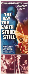 "Movie Posters:Science Fiction, The Day the Earth Stood Still (20th Century Fox, 1951). Insert (14""X 36"")...."
