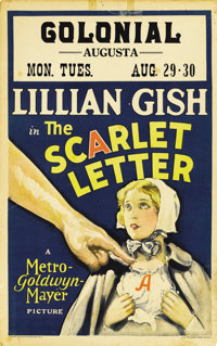 """The Scarlet Letter (MGM, 1926). Window Card (14"""" X 22"""")"""