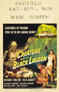 """Movie Posters:Horror, Creature From the Black Lagoon (Universal International, 1954).Window Card (14"""" X 22"""")...."""