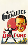 """Movie Posters:Comedy, The Big Pond (Paramount, 1930). Window Card (14"""" X 22"""")...."""