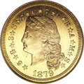 Proof Four Dollar Gold Pieces, 1879 $4 Flowing Hair, Judd-1635, Pollock-1833, R.3 PR66 NGC....