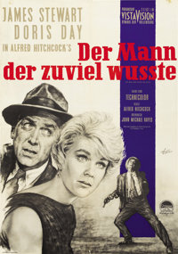 """The Man Who Knew Too Much (Paramount, 1956). German A1 (23"""" X 33"""")"""