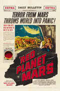 """Movie Posters:Science Fiction, Red Planet Mars (United Artists, 1952). One Sheet (27"""" X 41""""). Science Fiction.. ..."""