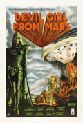 "Movie Posters:Science Fiction, Devil Girl From Mars (Spartan, 1955). British One Sheet (27"" X40"")...."