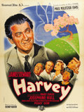 "Movie Posters:Comedy, Harvey (Universal International, 1950). French Grande (47"" X63"")...."