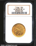 Indian Eagles: , 1908 $10 NO MOTTO